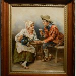 1800's oil painting cleaned