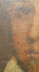 200 year old oil portrait before restoration