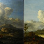 Mid-1800's Anglo/Euro Painting, before and after cleaning.