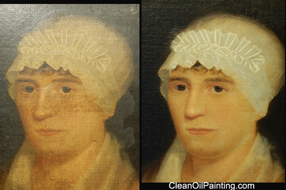 Art restoration early 1800s portrait before and after restoration solutioingenieria Gallery