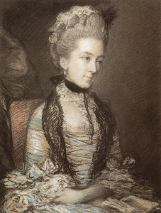 Gainsborough's drawing of Portrait of Caroline, 4th Duchess of Marlborough, shows similar technique to that in the Woodshed's study.